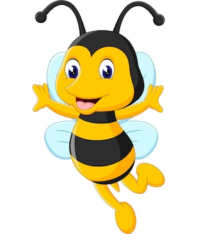 Illustration der netten bienenkarikatur