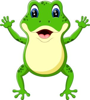 Illustration der netten froschkarikatur