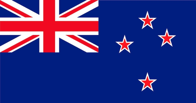 Illustration der neuseeland-flagge