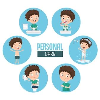 Illustration der persönlichen pflege