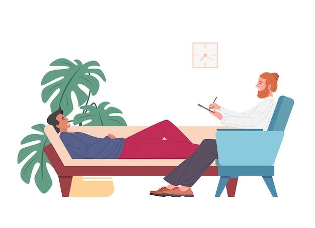 Illustration der psychotherapeutischen sitzung