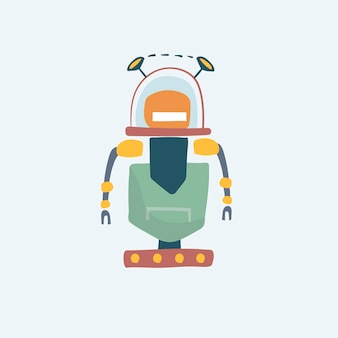 Illustration der robotervektorgrafik