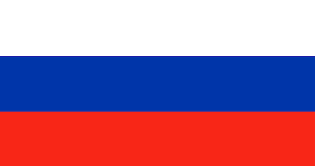 Illustration der russland-flagge