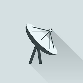 Illustration der satellitenantenne