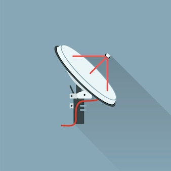 Illustration der satellitenantenne