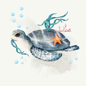 Illustration der schildkröte