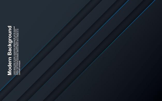 Illustration der schwarzen und blauen farbe des abstrakten hintergrunds mit blauer linie