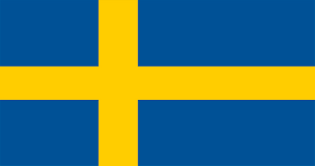 Illustration der schweden-flagge