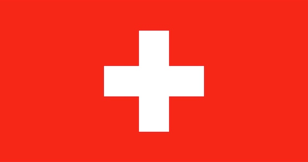 Illustration der schweiz flagge