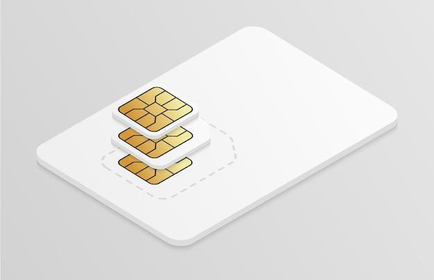 Illustration der sim-karte aus kunststoff