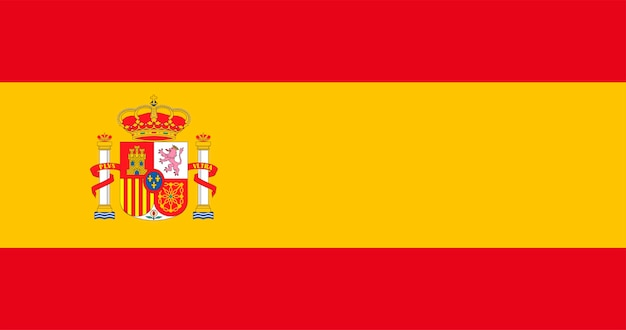 Illustration der spanien-flagge
