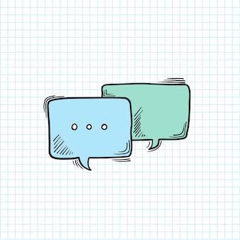 Illustration der spracheblase