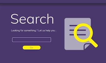 Illustration der suchenden Website