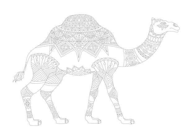Illustration der tierischen erwachsenen farbtonseite