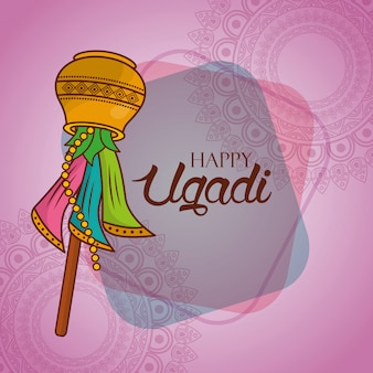 Illustration der ugadi inderfeier