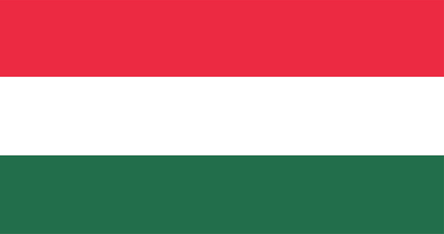 Illustration der ungarn-flagge
