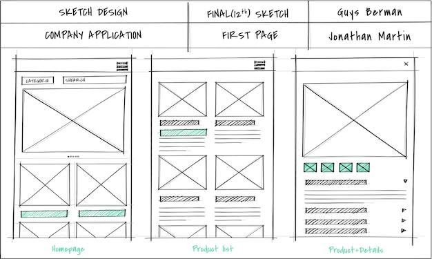 Illustration der webdesignschablone