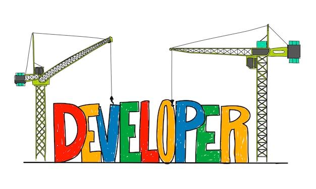 Illustration der website-entwicklung