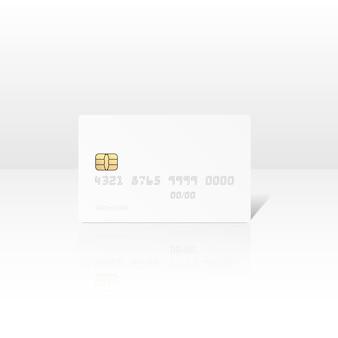 Illustration der weißen kreditkarte isoliert