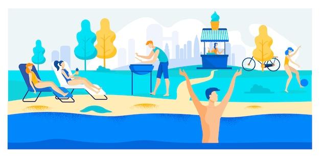 Illustration der wetterbedingungen im sommer.