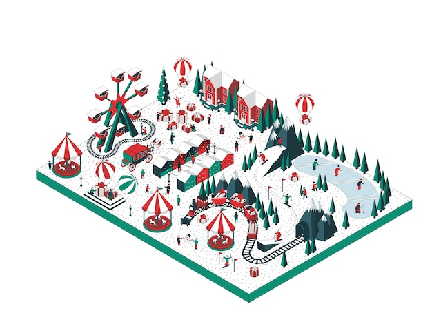Illustration der winterferien