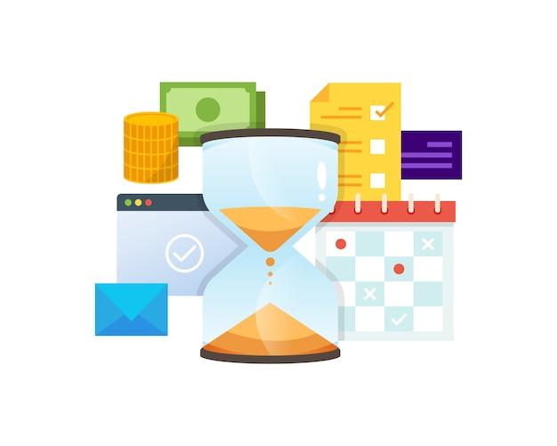Illustration der zeitmanagement-technologie