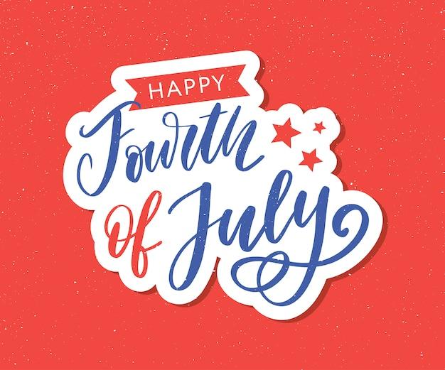 Illustration des 4. juli hintergrund mit amerikanischer flagge
