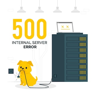 Illustration des 500 internen serverfehlerkonzepts
