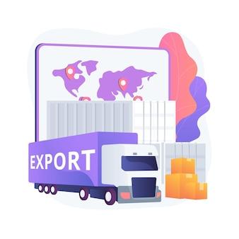 Illustration des abstrakten konzepts der exportkontrolle