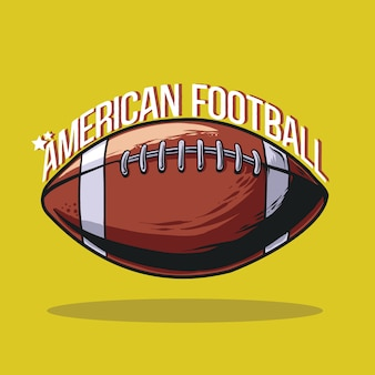Illustration des amerikanischen fußballs