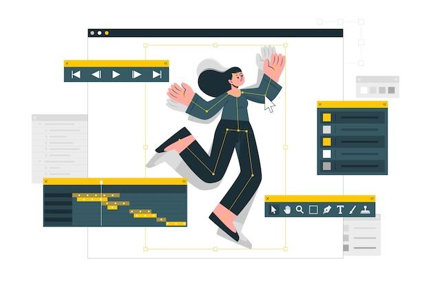 Illustration des animationskonzepts