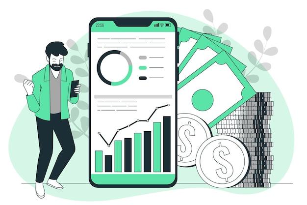 Illustration des app-monetarisierungskonzepts
