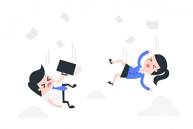 Illustration des arbeitslosenkonzepts. Premium Vektoren