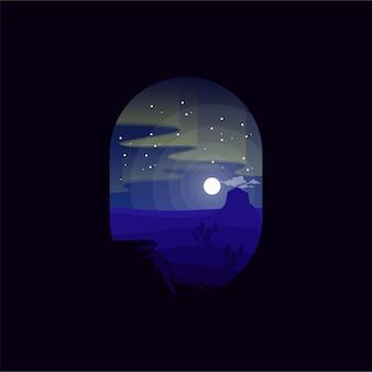 Illustration des aurora-logodesigns