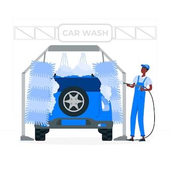 Illustration des autowaschkonzepts