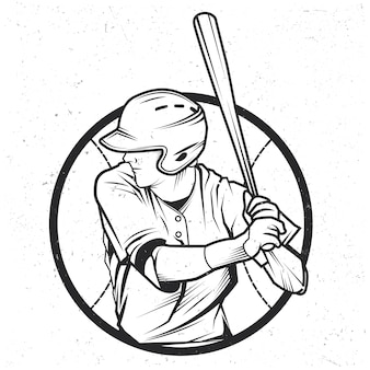 Illustration des baseballspielers