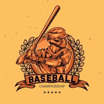 Illustration des baseballspielers