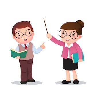 Illustration des berufskostüms des lehrers für kinder