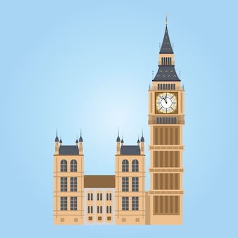 Illustration des big ben tower, london. big ben