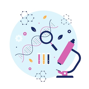 Illustration des biotechnologiekonzepts