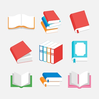 Illustration des buches. perfekt für logo- oder ikonenbildung, verlagswesen oder zeitschriftenindustrie. einfacher flacher farbstil