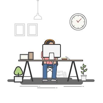 Illustration des büroangestelltavatars