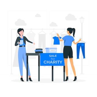 Illustration des charity-marktkonzepts