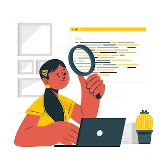 Illustration des code-review-konzepts
