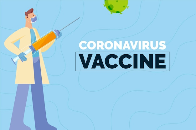 Illustration des coronavirus-impfstoffkonzepts
