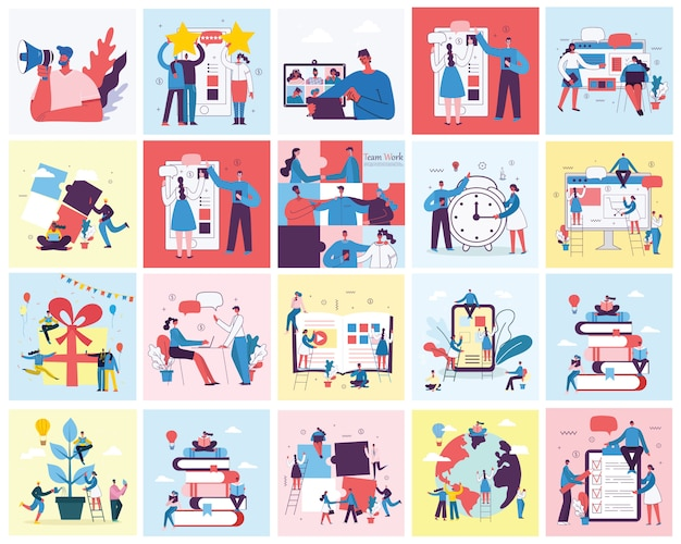 Illustration des digitalen marketingkonzepts