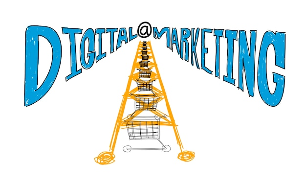 Illustration des digitalen marketings
