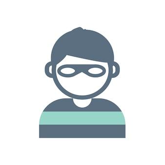 Illustration des einbrechers