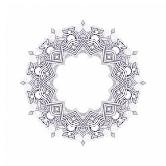 Illustration des einfachen mandalakunstdesigns