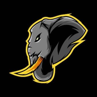 Illustration des elefanten-maskottchen-logos